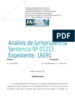Analisis de La Jurisprudencia Sentencia 01215 Expediente 16091