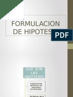 Formulacion de Hipotesis Taller II
