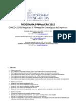 Programa Tentativo