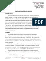 Tara Hoffner 7 192 Aba2009 Spring Materials Delaware Statutory Trusts 3 .Authcheckdam