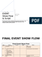 Sample Final Event Show Flow Script