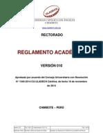 Reglamento Academico v010-2015