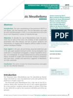The Cystic Mesothelioma