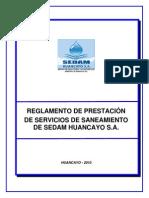 Reglamento de Prestación de Servicios de Saneamiento de SEDAM HUANCAYO S.A. (1).pdf