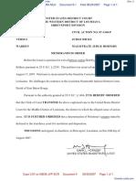 Selders v. Warden Ouachita Correctional Center - Document No. 4