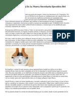 Nutricionista T. Boj Es La Nueva Secretaria Ejecutiva Del Elige Vivir Sano
