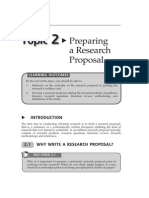Topic 2 Preparing a Research Proposal