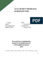 TUGAS Manajemen Produksi Agroindustri