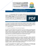 Edital Nº 09_2014 - Mestrado Em Desenvolvimento Regional - Abertura - Seleção 2015