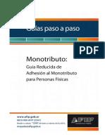 Paso a Paso Adhesión Monotributo Simplificado PDF