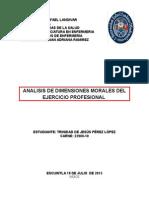 Analisis de Dimensiones Morales Del Ejercicio Profesional