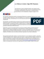 Apuestas Deportivas | Chivas vs Le?n | Liga MX Clausura 2015