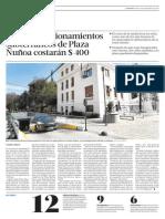 2011 09 08 - La Tercera - Nuevos estacionamientos subterráneos de Plaza Ñuñoa costarán $ 400