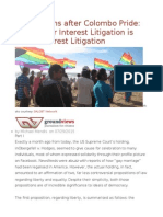 Ruminations After Colombo Pride Why Queer Interest Litigation is Public Interest Litigation