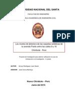 Informe de Investigacion de La Avenida Pardo