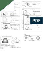 Fórmulas Geometria Plana-espacial