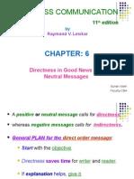 BUS 201 - 6 - Directness in Good News