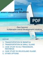Inland Transportation of Maratua Island