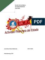 Actividad Financiera Del Estado Guatemala