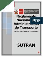 Reglamento Nacional de Administracion de Transporte DS 017-2009-MTC