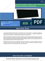 TFT LCD Panel Market | Manufacturing Plant Report