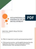 SynapseIndia Sharing Feedback on Drupal Development