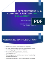 Mentoring Effectiveness in a Corporate Setting