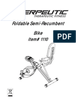 Exerpeutic Foldable Semi-Recumbent Bike