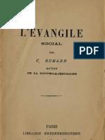 Charles Humann L'Evangile Social Librairie Swedenborgienne Paris 1893
