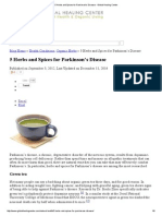5 Herbs and Spices for Parkinson's Disease - Global Healing Center