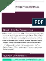 OOP 8 - Object-Oriented Programming Principles