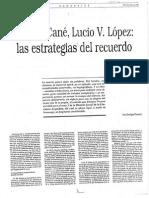 Miguel Cane, Lucio Lopez, Las Estrategias Del Recuerdo