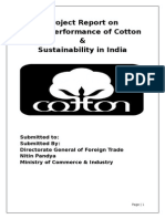 Trade performance of cotton