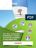The Best Sustainable Developme t Prac ces for Food Security (BSDP) of Expo Milano 2015 - Lebanon