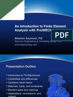 Presentation Introduction to FEA Using ProMechanica