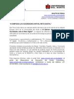 Nota de Prensa de III Edición del Simposio Las Sociedades ante el Reto Digital, 2010