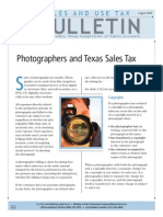 Photographers and Texas Sales Tax