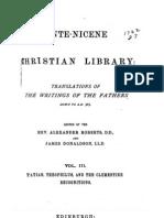 Ante-Nicene Christian Library 3