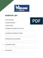 Questionnaire Startup List