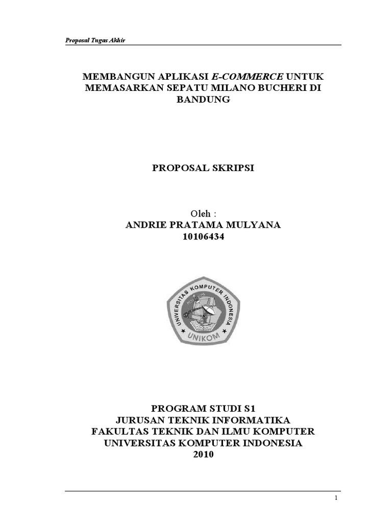 Contoh Proposal Tugas Akhir Teknik Informatika Pdf Berbagi Contoh Proposal