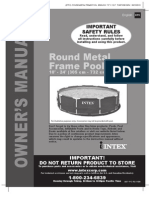 Intex Metal Frame Pool Set - Round Metal Frame Pool 10'-24' Models - Owner's Manual