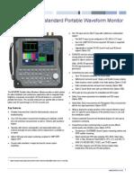 WFM2300 Multiformat Multistandard Portable Waveform Monitor Datasheet 2