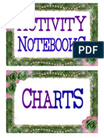 Small Books, Activity Notebook, Charts