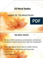 Chapter 4 the Moral Person