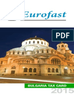 Bulgaria Tax Card 2015