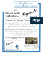 Legends Rincon Valley Middle School Flyer