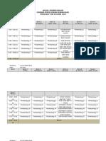 Seminar Ar - Jadual Bentang [Pra]