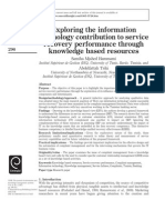 Exploring the information technology contribution to service recovery performance through knowledge based resources