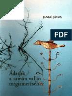 Janko Janos - Adatok a Saman Vallas Megismeresehez