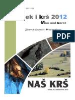 Zbornik Radova - Znanstveno-stručni Skup 'Čovjek i Krš' 2012.